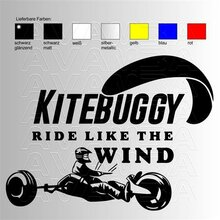 Kitebuggy Ride like the Wind  Aufkleber / Sticker