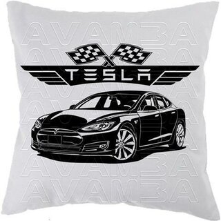 TESLA Model S Car-Art-Kissen / Car-Art-Pillow