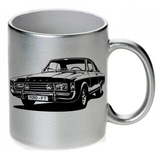 Ford 17M 20M 26M P7 Version 2 (1967-1971) Tasse / Keramikbecher m. Aufdruck