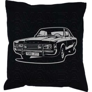 Ford 17M 20M 26M P7 Version 2 (1967-1971)  Car-Art-Kissen / Car-Art-Pillow