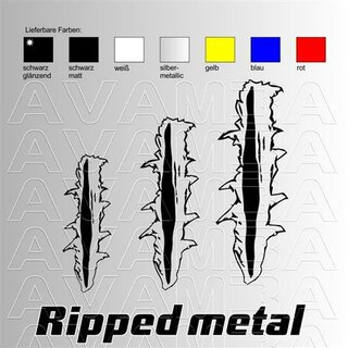Ripped metal decor