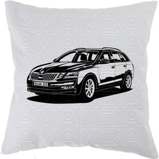 Skoda Octavia 3 Combi Typ 5E Facelift  (2017 - 2020  )   Car-Art-Kissen / Car-Art-Pillow
