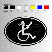 Wheelchair Pirate OVAL