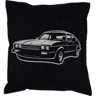 Ford Capri II / III 3 2.8i (1981-1986) Car-Art-Kissen / Car-Art-Pillow