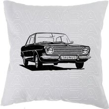 Ford Taunus 12M / 15M P6 (1966-1970) Car-Art-Kissen /...