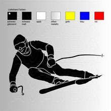 Ski Alpin Carving  Aufkleber / Sticker