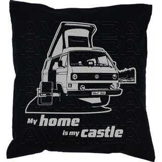 T3 Westfalia Joker My home is my castle Car-Art-Kissen / Car-Art-Pillow