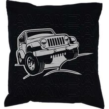 Jeep Wrangler V1 Car-Art-Kissen / Car-Art-Pillow