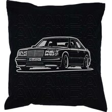 Mercedes Benz W124 Limousine Version 2 -Car-Art-Kissen /...