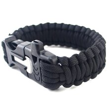 SURVIVAL -OUTDOOR Armband schwarz