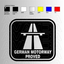 GERMAN MOTORWAY PROVED