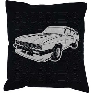 Ford Capri III  2.8 Turbo (1981-1982) Car-Art-Kissen / Car-Art-Pillow