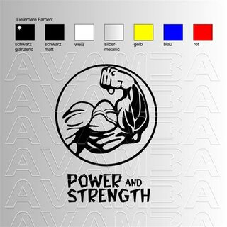 Body Building Power and Strength Aufkleber Sticker