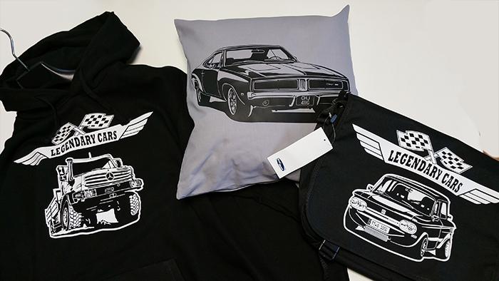 Weihnachtsgeschenke für Autofans Hoodie - Kissen - Umhängetasche