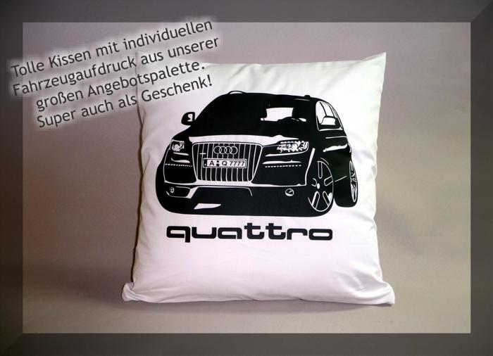Kissen mit Auto bedruckt - tolle Geschenkidee