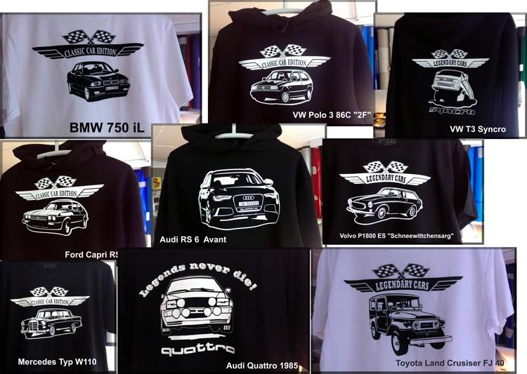 Oldtimer Youngtimer autoshirts