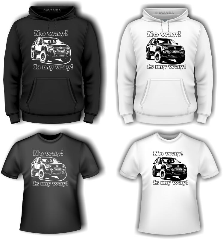 VW AMAROK T-Shirt und Kapuzenpullover