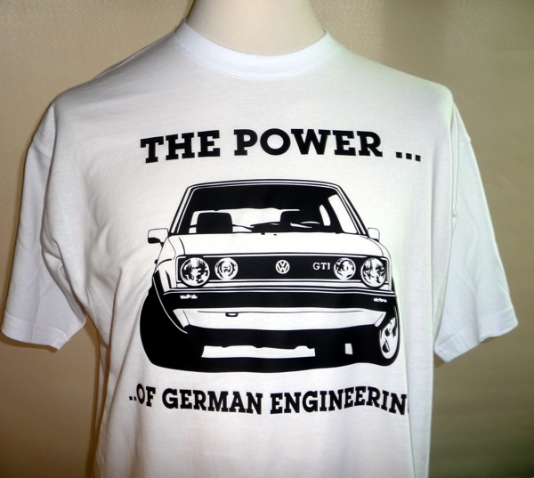 VW Golf power of german engineering youngtimer shirt