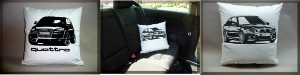 Car Art Kissen - Car Art Pillow Kissen mit Oldtimer, Youngtimer, Auto.